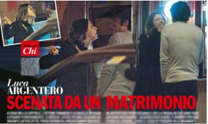 LUCA ARGENTERO E MYRIAM CATANIA, BRUSCA LITE FUORI DAL RISTORANTE A ROMA